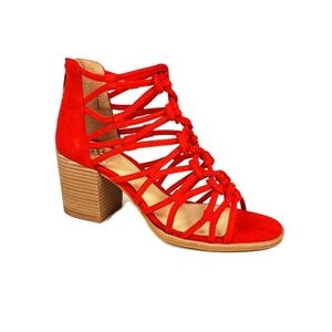 Vince camuto caged block heel sandals size 7.5